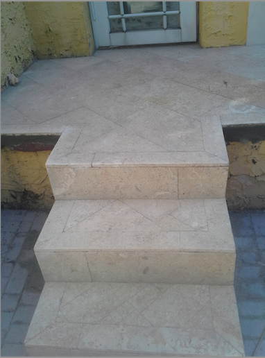 Coral Stone Steps