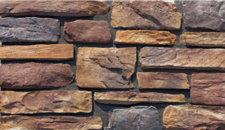 Cultured Manufactured Stone Veneer Wall Siding - Rustic Ledgestone - Alpine - US $6.99