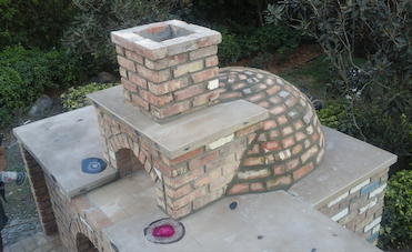 Miami Stone Installer - Old Chicago brick - stove small