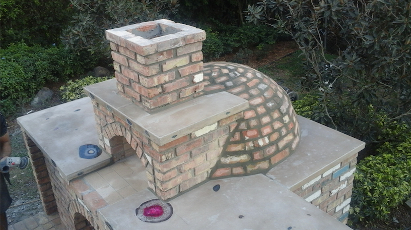 Miami Stone Installer - Old Chicago brick - Deep pocket pizza Oven