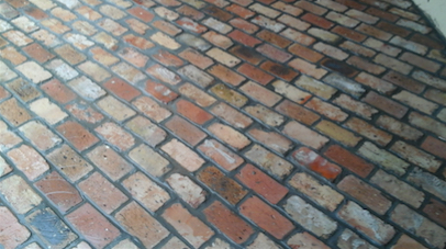 old Chicago brick tile floor-s
