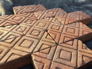 575 Antique Brick Pavers Geometrical Design Hand Made From 1920's Mansion. approx 7-1:2″ x 4″ x 2-1:4″ thick- US $6.00 (OLD CHICAGO BRICK VENEER TILE & PAVERS)