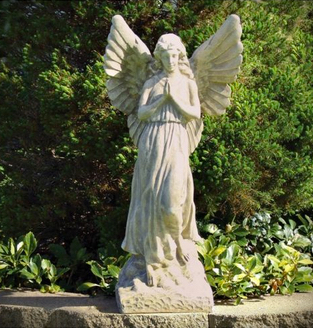 ANGEL STATUE SCULPTURE STATUARY STONE HOME YARD GARDEN ART DECOR -