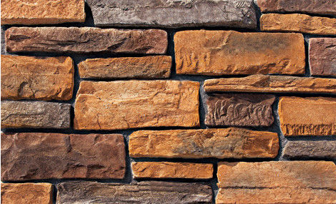 Cultured Manufactured Stone Veneer Wall Siding - Cliffstone - Chestnut 8 DISCOUNT STONES