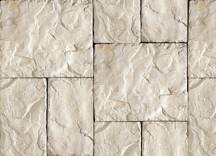 Cultured Manufactured Stone Veneer Wall Siding - European Castle - Almond White $6.99 FREE shipping throughout all of United States and Canadian Provinces
