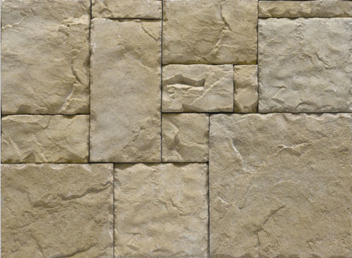 Cultured Manufactured Stone Veneer Wall Siding - European Castle - Champagne- discount stones