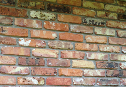 Old chicago brick installation
