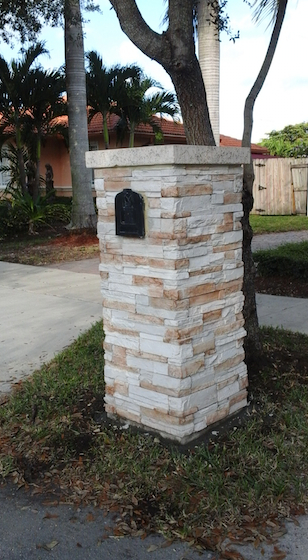 Cultured Stone Columns : Outdoor decor accents chicago brick and stone elements