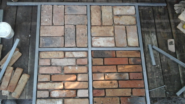 Reclaimed historic chicago brick veneer in miami for Brick veneer floor
